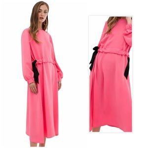 ASOS Pink Tie Waist Maxi Dress